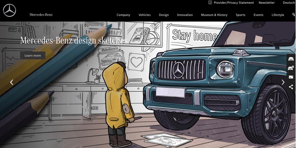 Mercedes Benz web